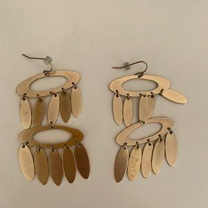 Anthropology gold dangle earrings